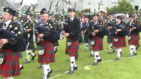 bagpiper scottish culture scotland hd stock video