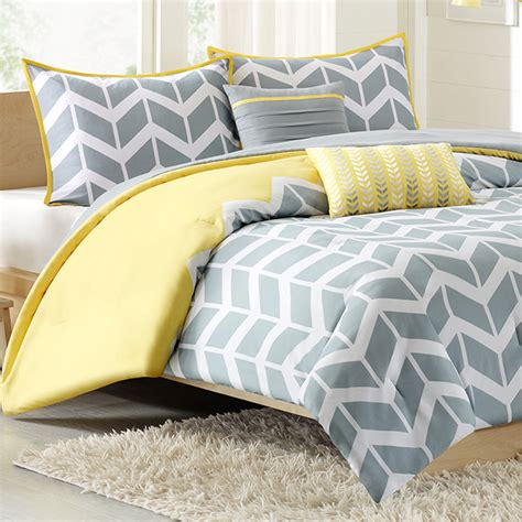 nadia twin xl comforter set chevron yellow free shipping