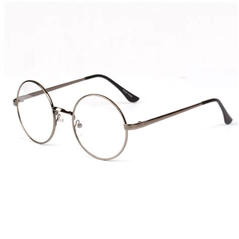 unisex metal frame clear lens glasses retro