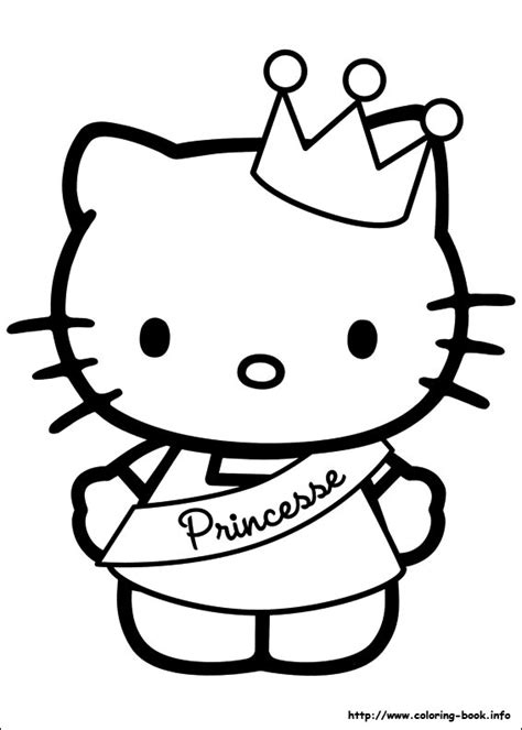 Hello Kitty Princess Coloring Pages Coloring Pages Hello Princess