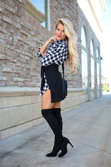 Home Outfitters Christmas Decor by Over The Knee Boots Plaid Welcome To Olivia Rink