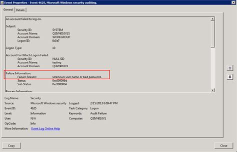 windows password reset event id discrepancy between event log taken from powershell and