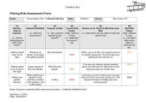 workstation assessment template filming risk assessment form