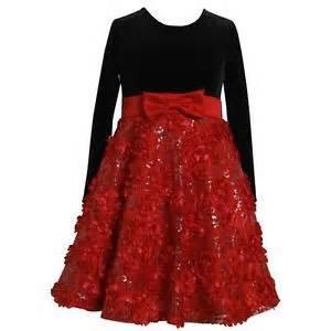 Jean girls velvet black red bonaz christmas dress 2t 3t 4t 4 5 6 6x