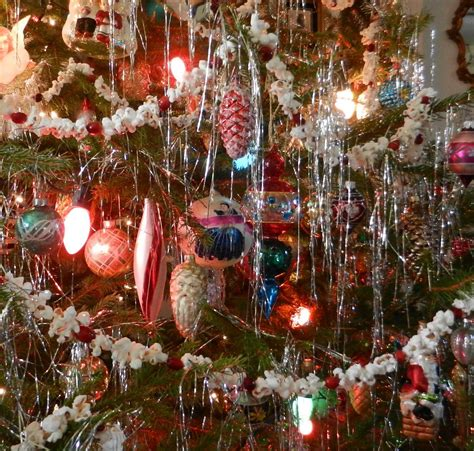 old fashioned glass christmas ornaments