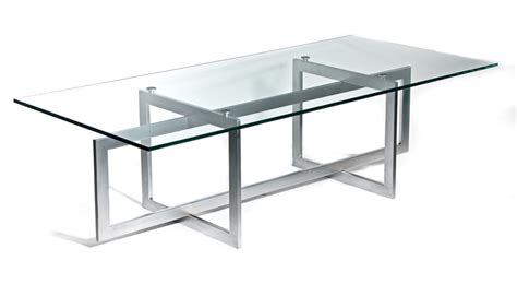 Metal Conference Table Modern Glass Steel Conference Table Ambience Dor 233