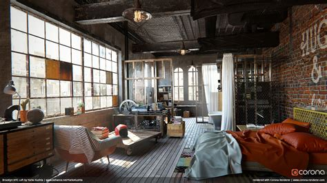 brooklyn studio industrious home renovation loft design corona renderer 1 6 for autodesk 3ds max released 3d