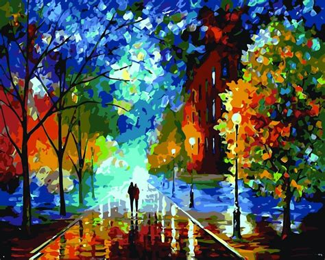 new diy acrylic paint by number kit pbn painting on canvas home decal frameless landscape