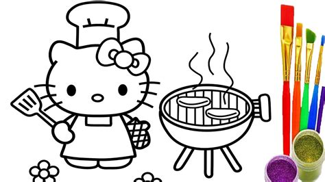 hello pictures to color hello coloring pages how to draw bbq