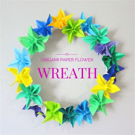 Origami Reef - how to make a wreath using origami flowers