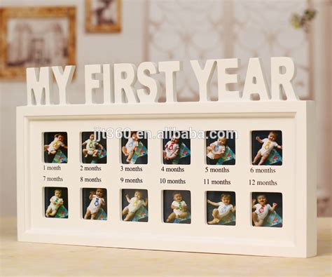 12 Month Baby Diary Wood Picture Photo Frame Buy Baby Diary Photo Frame Baby Collage Picture 12 Month Photo Collage Template
