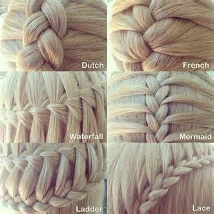 names of different hair braids six different types of three strand braids so cute