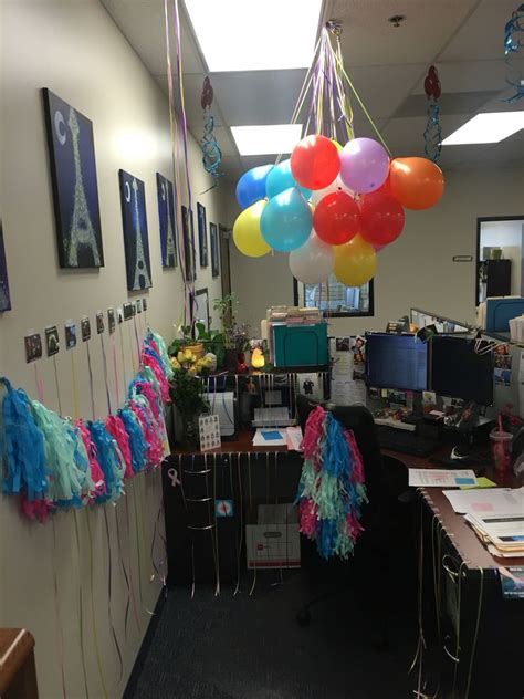 birthday decorations  cubicle work life
