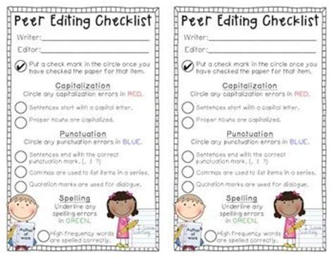 Peer Editing Checklist College Essay by Peer Editing Checklist College Essay