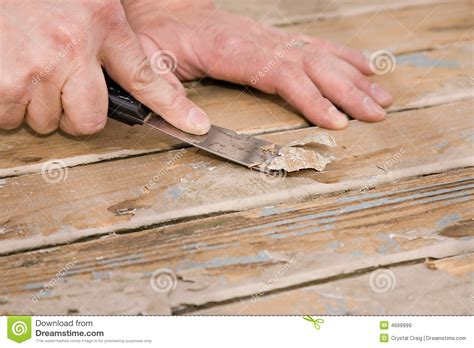 How To Paint Patio Floor Scraping Paint On A Deck Royalty Free Stock Images Image