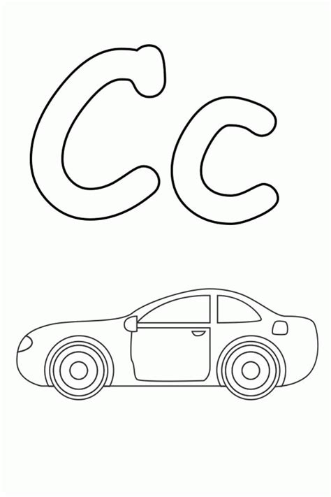 c color free letter c coloring pages coloring home