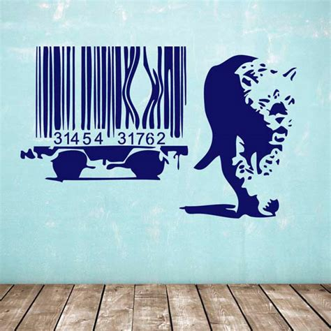 Banksy Wall Stickers Uk banksy barcode leopard wall sticker iconic british