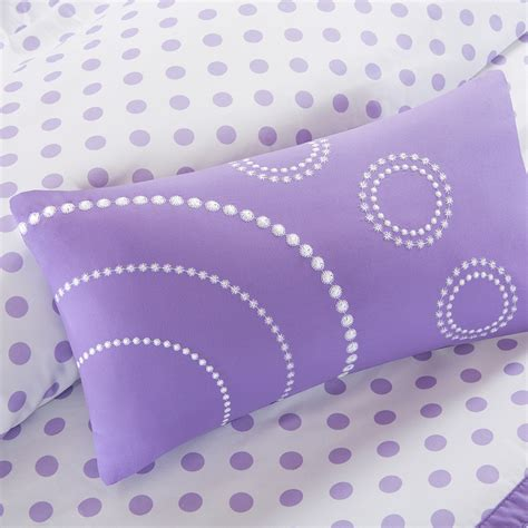 polka dot twin comforter romantic puple lavender ruffle bedding twin full queen xl