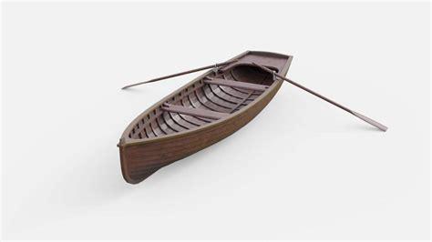 3d boat rowboat 3d model