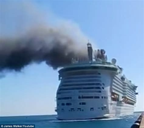 jamaica fire boat royal caribbean crew member burned as fire breaks out on