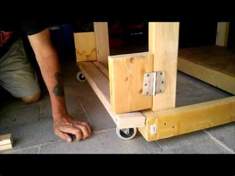 work bench with wheels folding bench wheels youtube