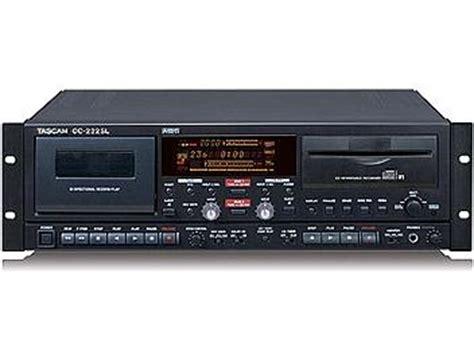 cd recorder deck tascam cc 222sl cd recorder cassette deck