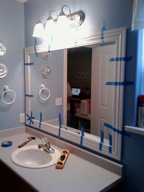 framing bathroom mirror ideas best 25 framed bathroom mirrors ideas on pinterest