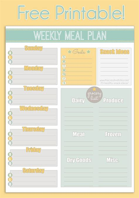 printable meal planning ideas 289 best images about printables on pinterest menu