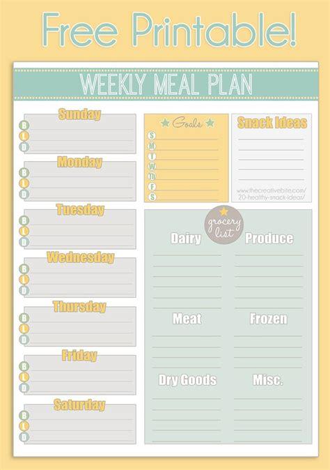 printable one week meal planner 289 best images about printables on pinterest menu