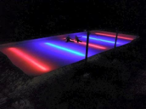 backyard ice rink lights red line under the liner led nicelights nicelights