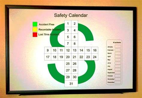 safety calendar template safety cross template for excel printable calendars 2018
