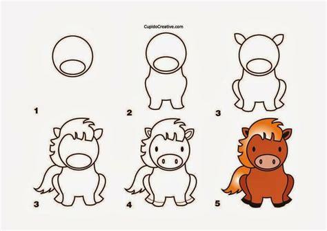cara menggambar kerajinan anak tk sd langkah cara menggambar kuda
