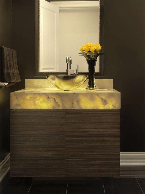 powder room backlit onyx vanity powder room stone