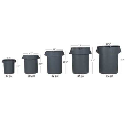 trash can kit 55 gallon gray trash can lid and dolly kit