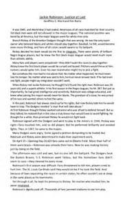 Jackie Robinson Essay by Jackie Robinson
