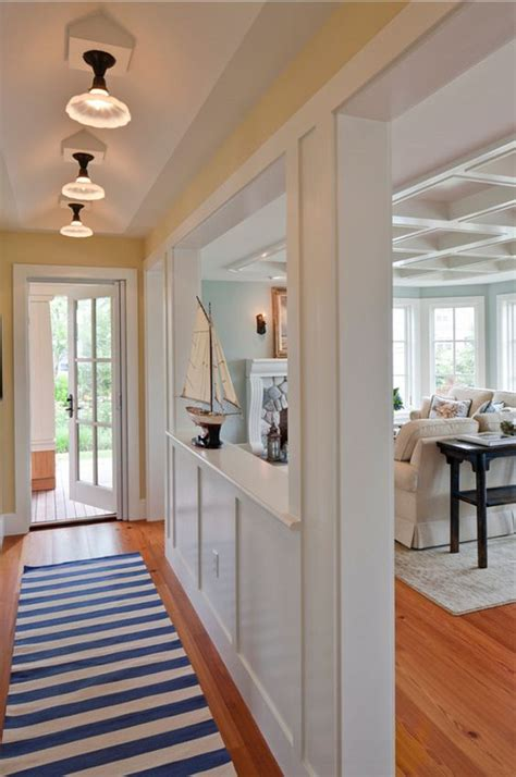 how to create a foyer in an open floor plan a summer home on the south coast of rhode island coastal