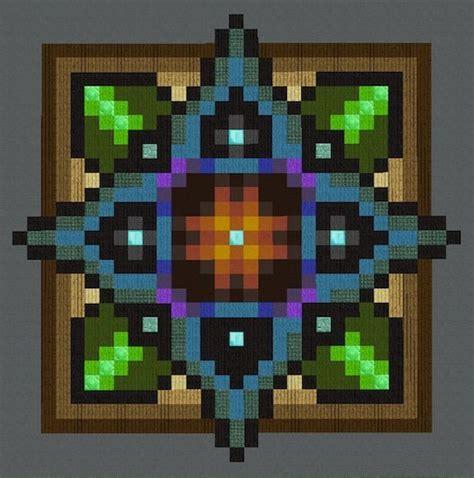floor pattern ideas minecraft mandalas floors pixel art minecraft amino
