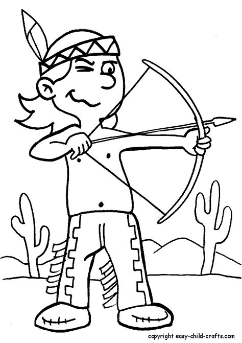 coloring page of native american indian native american indian coloring pages for kids 2nd