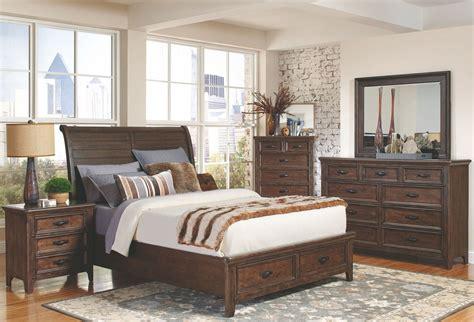 Rustic Bedroom Set With Storage Ives Rustic Storage Platform Bedroom Set 205250q Coaster