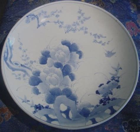 Dziner Ori Blue List White Blue arita blue and white charger for sale antiques