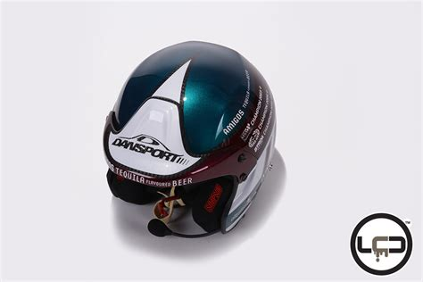 liquid design helmet steve perez amigos beer sponsor lcd