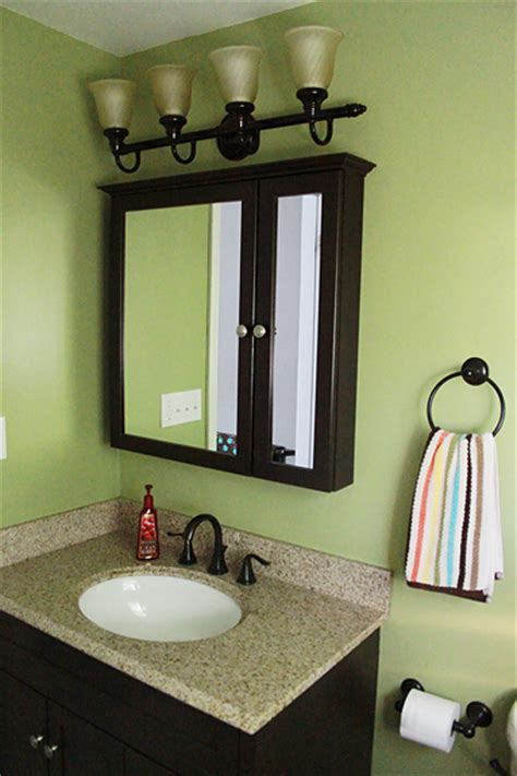 paint color for bathroom with bronze fixtures kid guest bathroom facelift drive with