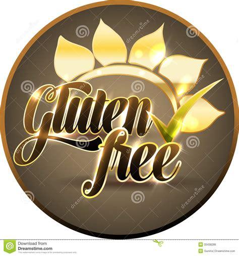 round gluten free gluten free round symbol stock vector image of free
