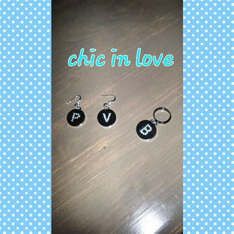orecchini con lettere orecchini anello con lettere gioielli orecchini di