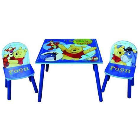 table et chaises en bois winnie l ourson de disney pour