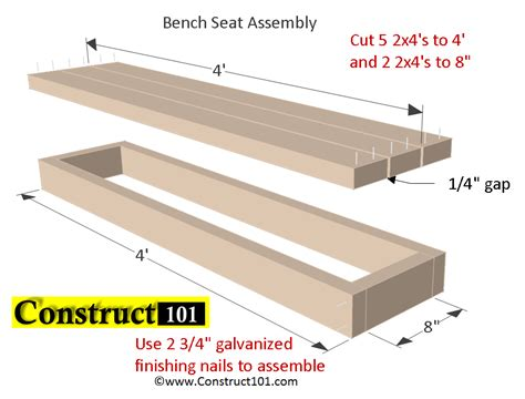 2x4 bench seat plans planter bench plans built with 2x4 s free pdf construct101