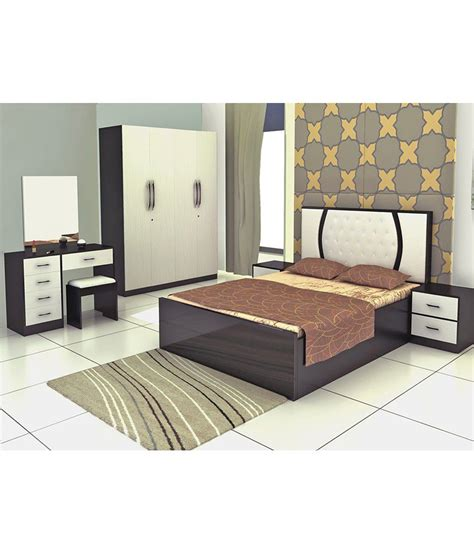 cost of bedroom set bedroom set with king size in white buy online at best