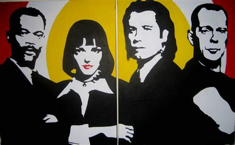cuadro pulp fiction domingo vera pop art cuadros realizados a mano pulp fiction