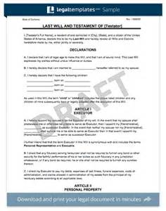 Free Last Will And Testament Templates by Create A Last Will And Testament Templates