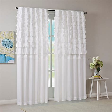 ruched drapery panels intelligent design waterfall ruched 63 inch window curtain